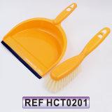 Tabela de plástico vassoura e Ajuste da escova para limpeza doméstica (HCT0201)
