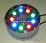 9W는 스테인리스 LED 샘 빛 일정한 현재 모는 LED 수중 빛을 방수 처리한다