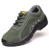 Green PU Anti-Hit solide d'injection de semelles de chaussures de travail