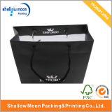 يشبع أسود طباعة رفاهيّة ورقة هبة حقيبة مع عالة علامة تجاريّة