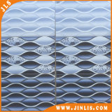 Blauer Wellen-Entwurfs-rustikale keramische Wand-Fliese des Baumaterial-2540