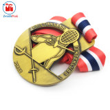 Nastro su ordinazione personalizzato della medaglia di vittoria di Shap del metallo popolare di disegno