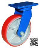 8 Zoll Extrahochleistungs-PU auf Eisen-Schwenker-Fußrollen-Rad
