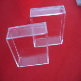 Claro placas Petri de plaza Cristal de cuarzo.