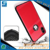 Противоударная задняя крышка случая стекел на iPhone 8