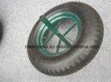 고약한 냄새 없는 녹색 외바퀴 손수레 타이어