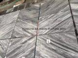 Telha de mármore cinzenta italiana de Carrara para o projeto
