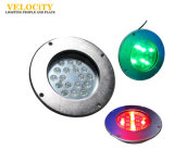 18PCS/24PCS indicatore luminoso impermeabile subacqueo del raggruppamento dell'acciaio inossidabile LED di alto potere IP68 RGB
