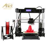 Anet A8 Anet 공장에서 가장 새로운 고품질 DIY Fdm 탁상용 3D 인쇄 기계