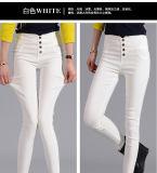 OEM plus Jeans van de Vrouwen van de Taille van de Grootte de Hoge Geschikte Slanke