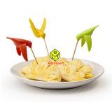 Bastoni stupefacenti della frutta dell'uccello di ronzio della plastica di disegno, forcelle della frutta con l'insieme del supporto