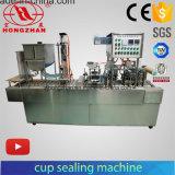 음식 음료를 위한 가득 차있는 자동적인 컵 충전물 그리고 밀봉 기계