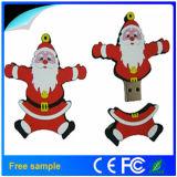 Поощрение Рождество Санта Клаус ПВХ флэш-накопитель USB 4 ГБ