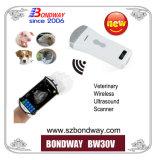 Scanner de ultra-sons de EFP sem fio, Wireless Vet Máquina de digitalização de ultra-sons, imagens de ultra-som de teste de gravidez Systmem para suínos, carne de suíno, suínos, ovinos, caprinos, cães, gatos