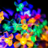 20LED 태양 강화된 물 복숭아 꽃송이 끈 빛 (RS1020)