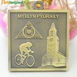 Рекламные спорта металлические медаль с лентой