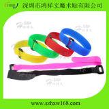 Colorida impressa personalizados reutilizáveis Braçadeira de plástico macio de nylon com fivela de plástico