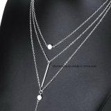 Collana di istruzione della barra di fascino della nappa della collana di strato delle collane & dei pendenti 3 delle donne multi per il regalo delle donne