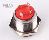 Hban CE RoHS (16mm) Botão de pressão impermeável para varandim iluminado por círculo