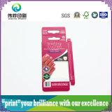 Caixa de embalagem de papel de impressão com dobrável colorido (para esmalte de unhas)