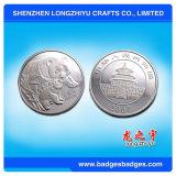 은은 로고에 의하여 금속 동전 양식 중국 돋을새김된 공급자를 도금했다