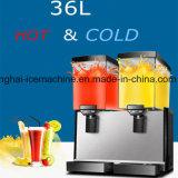 Eléctrica comercial 18L*2 dispensadores de bebidas suaves/Automático dispensador de la licuadora/fría y caliente
