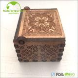 Коробка нот ручки для вращения популярного высокого качества 2017 деревянная выгравированная для античных подарков
