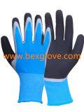Двойным покрытием перчатки из латекса