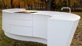 アクリルの固体表面の白い流行のフロントのオフィスのレセプションのカウンター