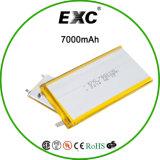 7662102 de Batterij van het Polymeer Li-Po van de Batterij 7000mAh van het polymeer voor GPS Batterij