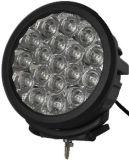 Round 7inch 90W SpotまたはFloodの黒いクリー語LED Work Lights