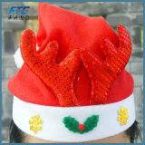 La place blanche rouge de Tableau de décorations en verre de vin carde le chapeau