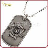 Conception unique en alliage de zinc slivoïde Antique terminer Dog Tag
