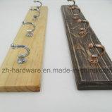 나무로 되는 고급 아름다운 옷 훅 & 금속 널 훅 (ZH-7026B)