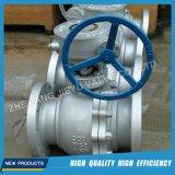 Válvula de esfera flotante de gas industrial con bridas de acero inoxidable