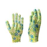 Оптовая торговля нитриловые покрытием для детей и женщин в саду безопасность защитные перчатки