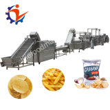 Sortie pleine en acier inoxydable 304 30-300 Kg/h Electric Chips de pommes de terre frites surgelées Making Machine Production