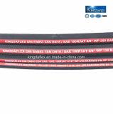 Feuerbeständiger LÄRM R1/R2 En853 1sn/2sn SAE-100 hydraulischer Gummischlauch