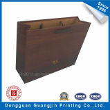 High Quality Wooden Texture Brown Kraft Paper Shopping Bag
