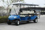 太陽電池パネルの電気ゴルフ人々の発動機、4+2-Seater黒