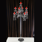 Highend Crystal Candle Holder para casamento decorativo