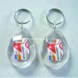 Спортивный стиль одежды форма прозрачный пластиковый цепочке для ключей в подарок для продвижения