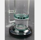 Glaspfeife-grünes Bienenwabe-Filter-Öl-Rohr