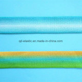 Gran alargamiento cara satinada de impresión de gradiente de pliegue elástico