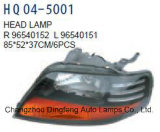 Chevrolet Aveo/Kalos 2005년 (96540152 96540151)를 위한 고품질 헤드 램프