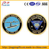 Custom Logoの旧式なPlating Metal Military Challenge Coin