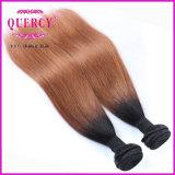 Omber malaysische Ton Omber Farben-Haar-Einschlagfaden-preiswertes malaysisches gerades Haar der Haar-Extensions-zwei