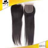 Première fermeture 2.5*4 brésilienne avec 100 pour cent de cheveu de Remy
