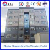 Edificio de varias capas de la estructura de acero para el apartamento