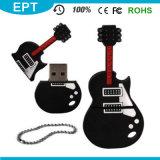 Logotipo personalizado PVC Pen Drive USB Flash Drive USB em forma de guitarra (EG523)